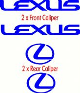 LEXUS STRAIGHT HIGH TEMPERATURE CALIPER DECAL SET